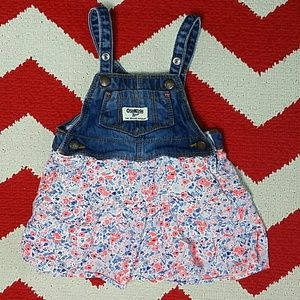 OshKosh B'gosh Vestbak Skirted Overalls Floral 12